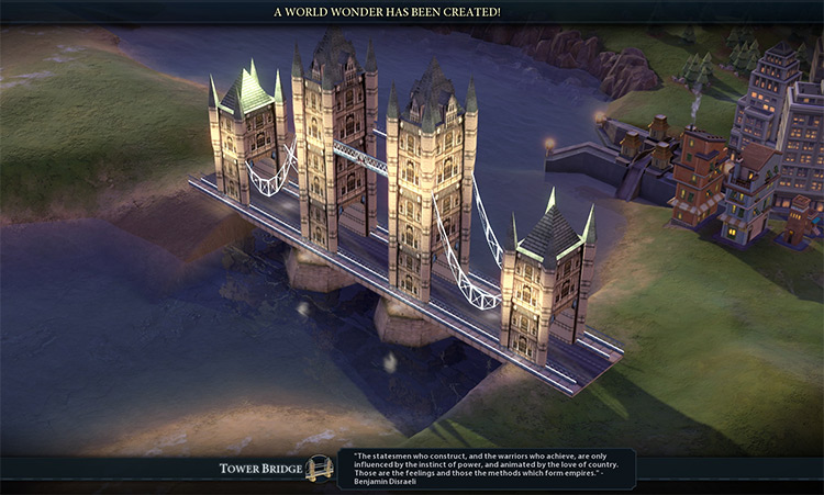 Tower Bridge in Civ 6 Mod