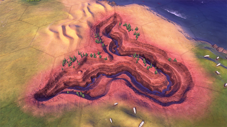 Civ6 Grand Canyon Mod