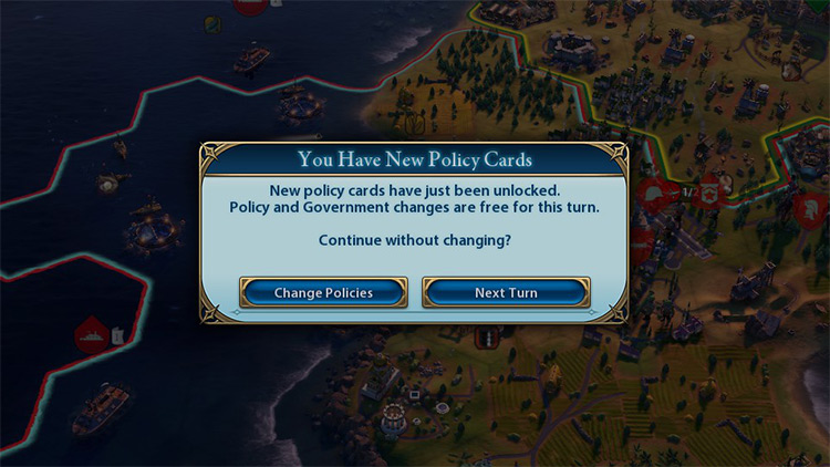 Policy Change Reminder in Civ6