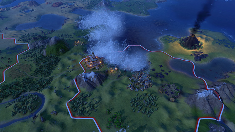Tsunami Waves Civ6 modded