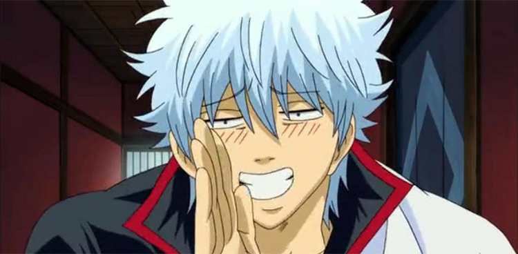Sakata Gintoki Smiling, Gintama Screenshot