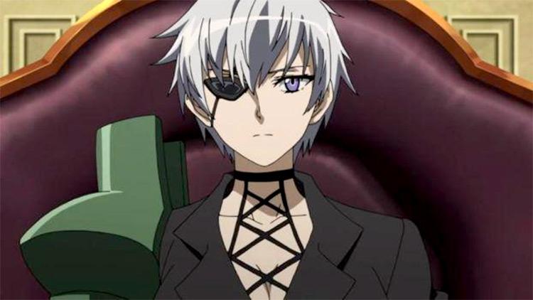 Najenda (Boss) character with short white hair in Akame Ga Kill!