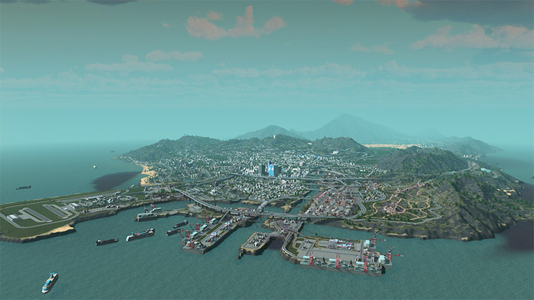 Los Santos Map for Cities Skylines