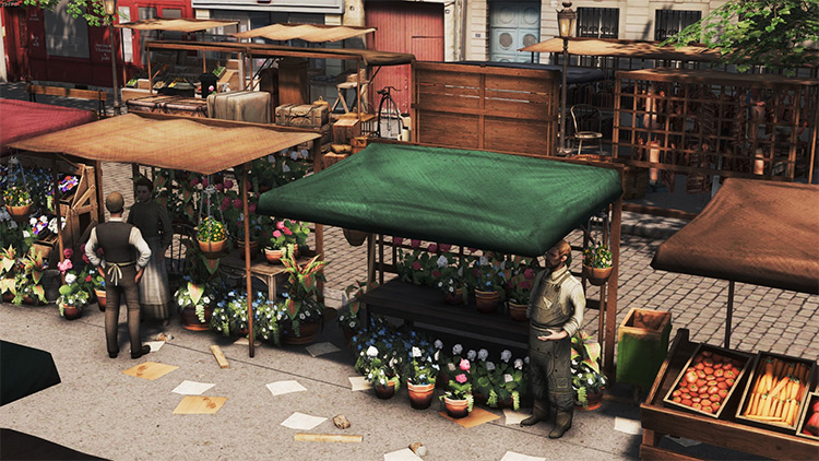 Street Market Props Mod in Cities Skylines
