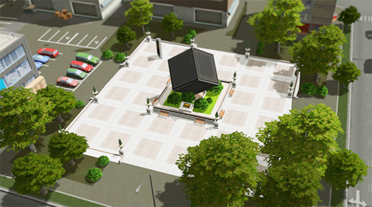 Modern Art Plaza for Cities Skylines