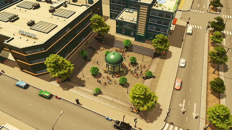 Sunken Plaza Mod in Cities Skylines
