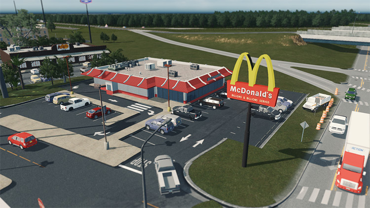 McDonalds Building Mod - Cities Skylines