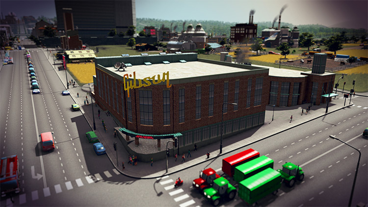 Gula's Gibson Guitar Factory Mod - Cities Skylines