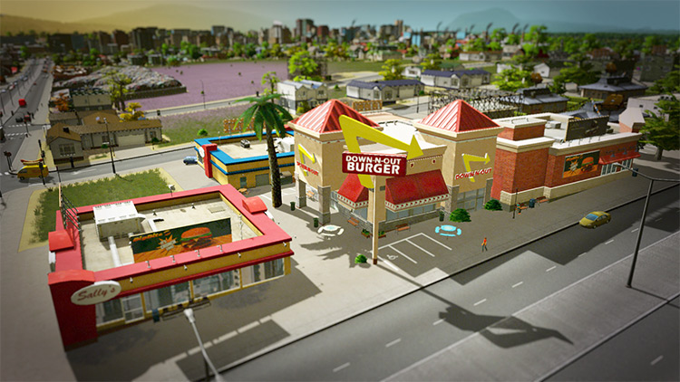 Gula's In-and-Out Burger - Cities Skylines
