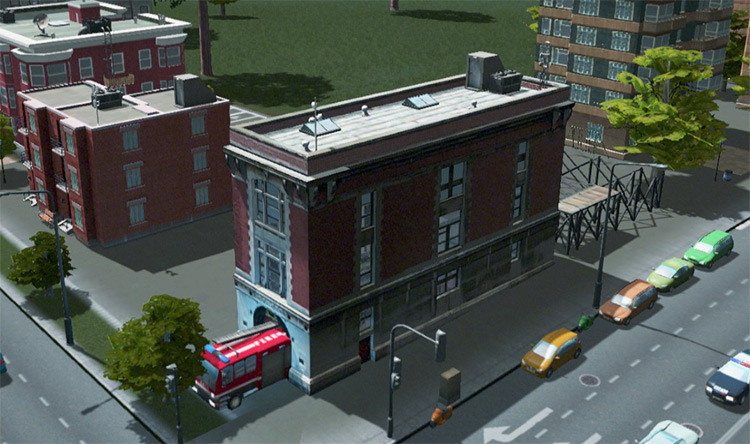 Ghostbusters Firestation Mod for Cities: Skylines