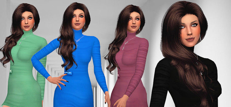 Best Long-Sleeve Dress CC To Download For Sims 4