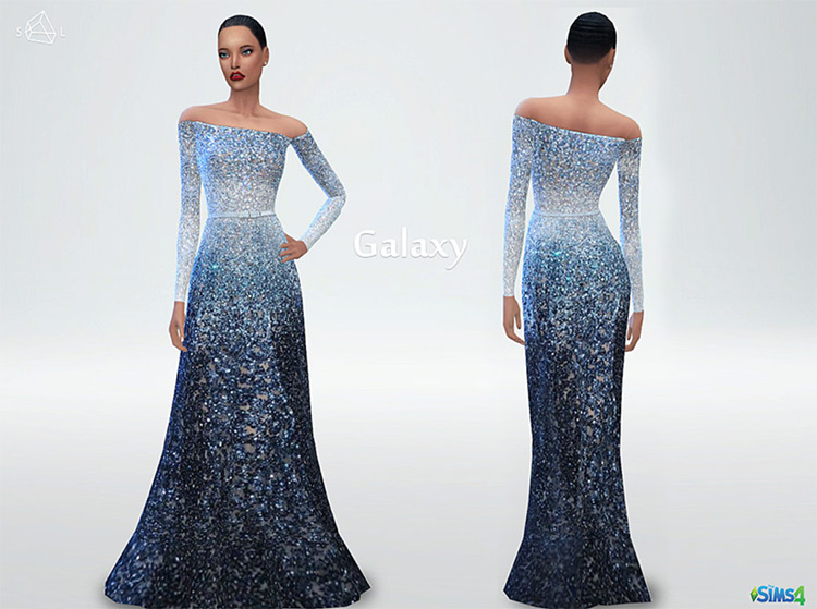 Galaxy Dress in The Sims 4 CC