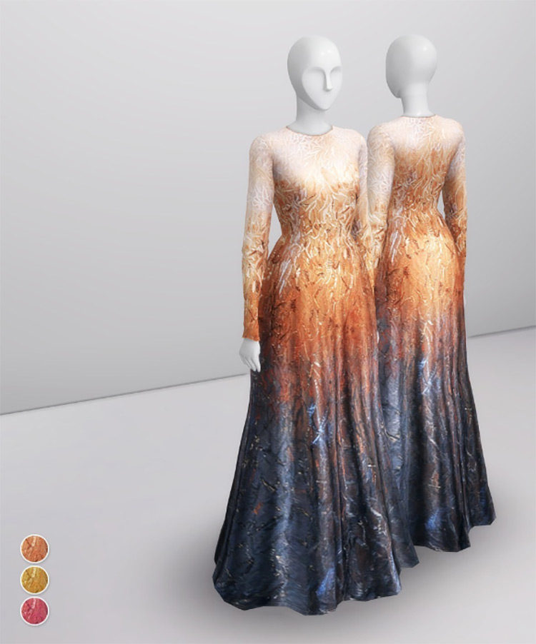 Elie Saab Fall Couture Dress - Sims 4