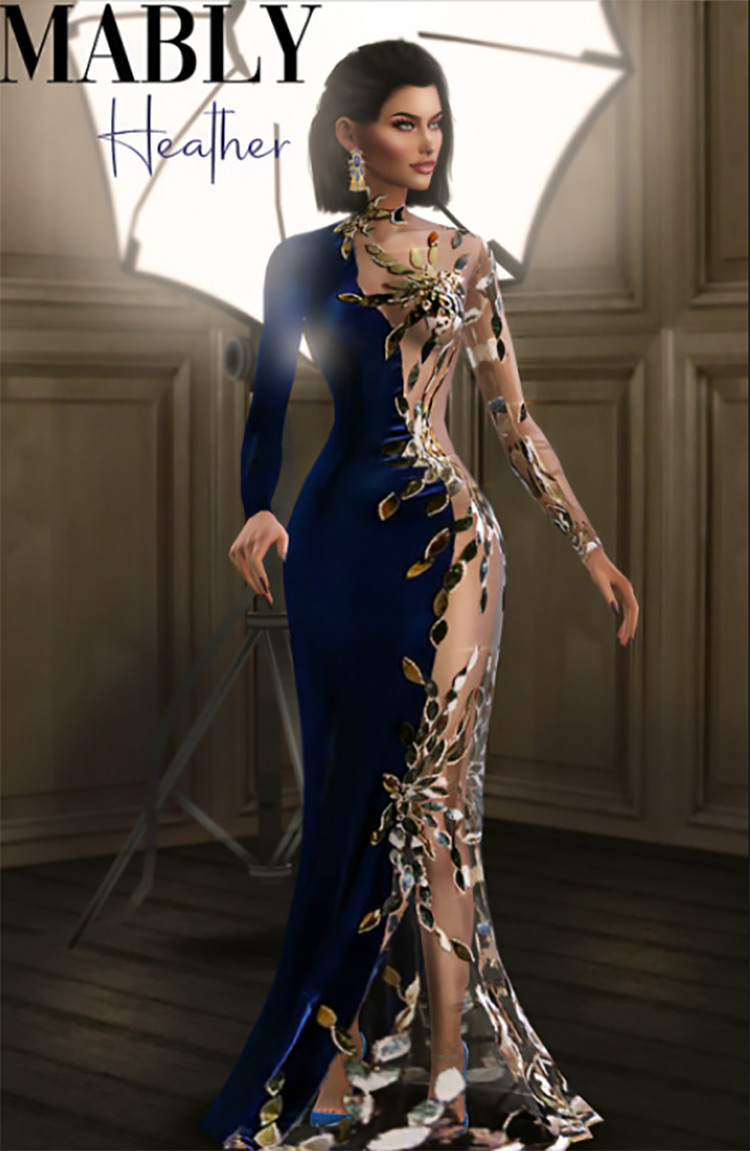 Screenshot of Heather Gown - The Sims 4