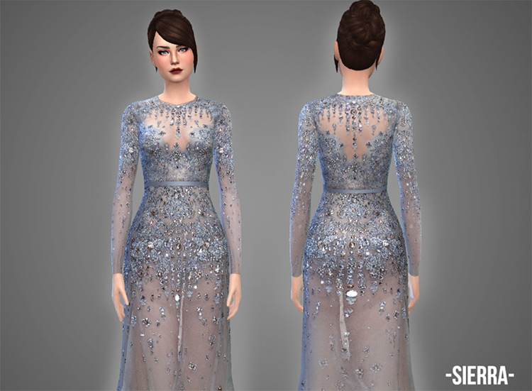 Screenshot of Sierra Gown - The Sims 4