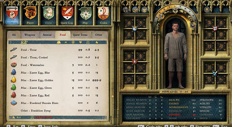 A Sorted Inventory Kingdom Come Deliverance Mod