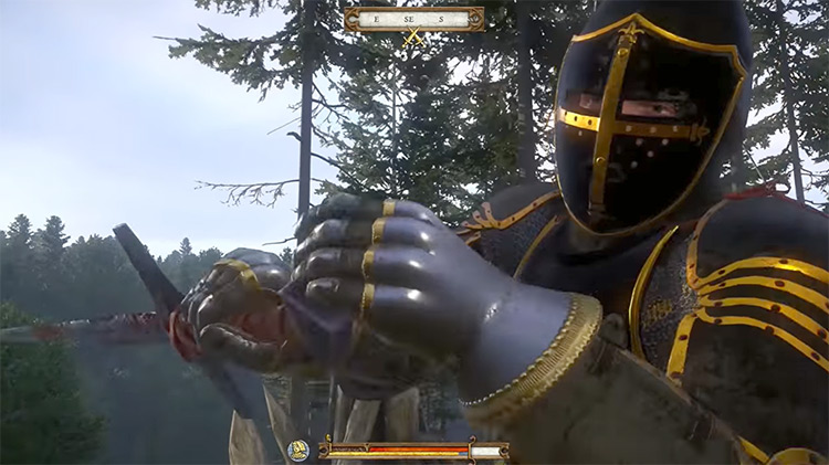 Black Knight Armor and Sword Kingdom Come Deliverance Mod