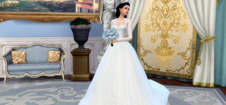 Royalty Duchess of Cambridge Wedding Dress Sims4 CC Mod