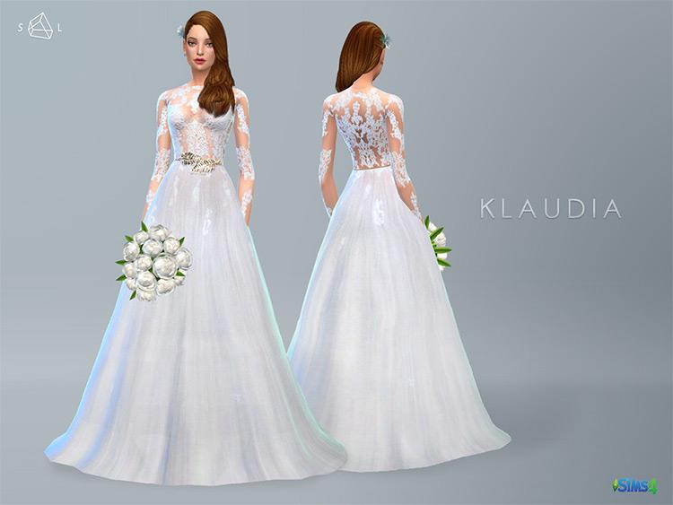 Klaudia Wedding Dress Sims4 CC mod