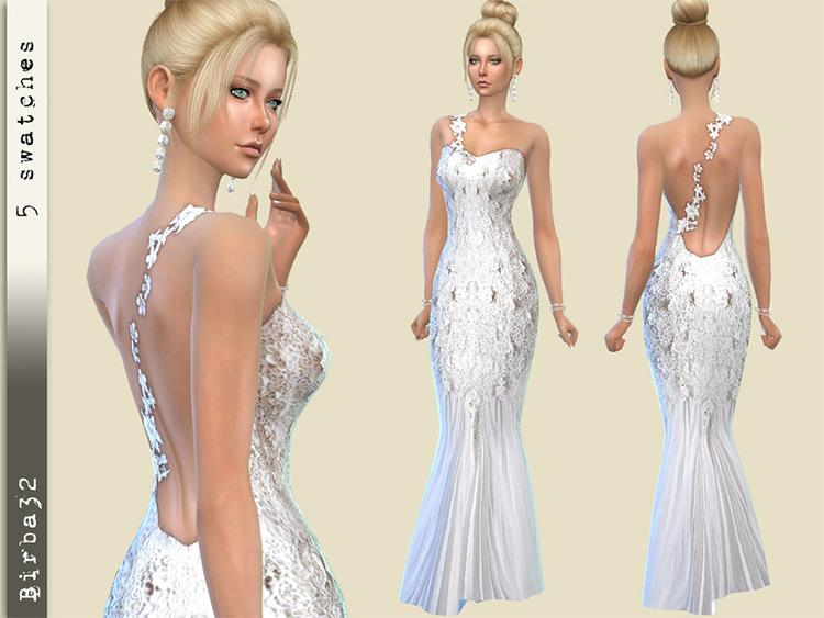 Wedding Dress 18 Sims4 CC