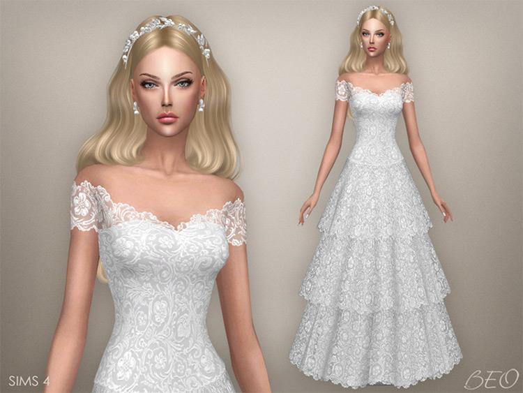Vintage Wedding Dress Sims4 CC