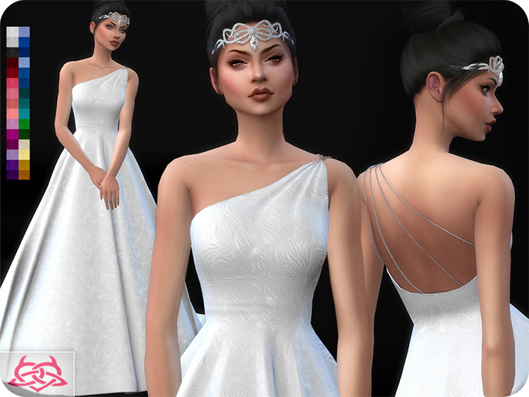 Wedding Dress 12 for Sims4