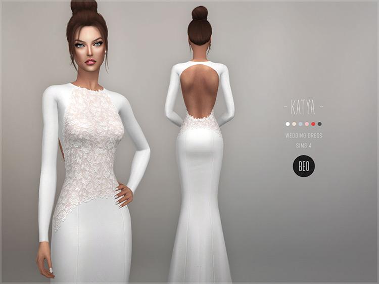 Katya Wedding Dress for Sims4