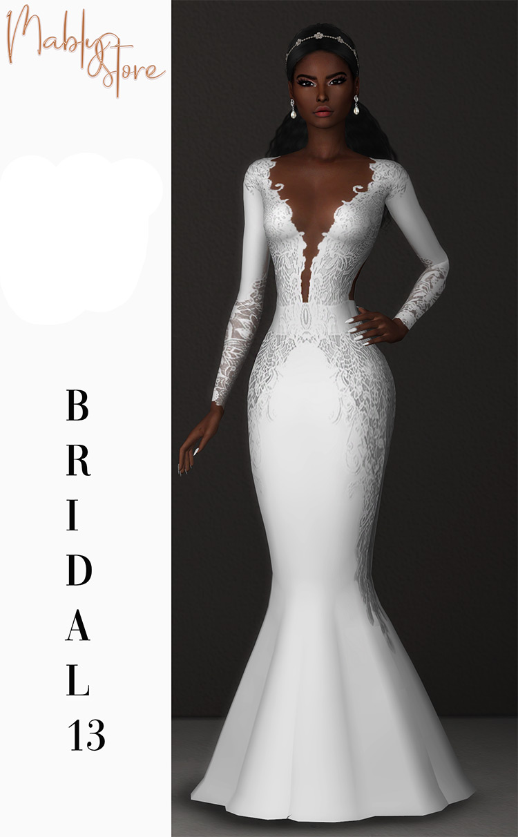 Bridal 13 Dress for Sims4