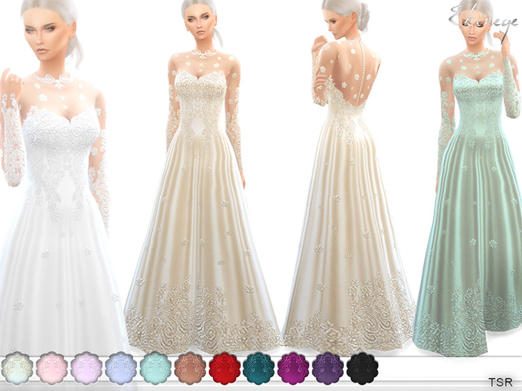 Romantic Wedding Gown Sims4