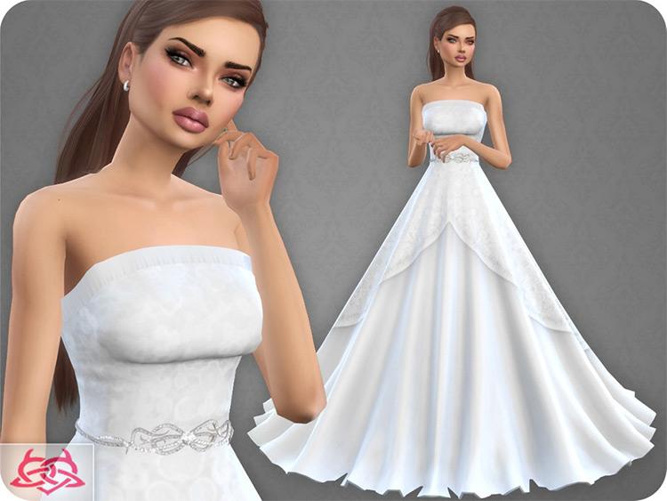 Wedding Dress 9 TS4 CC