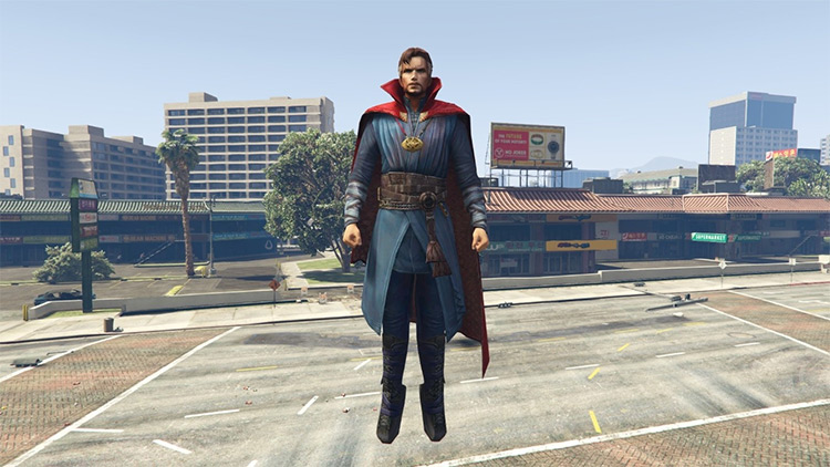 Doctor Strange modded screenshot in GTA5