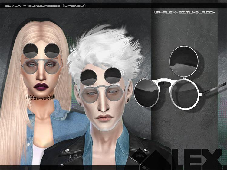 Blvck black circular sunglasses CC