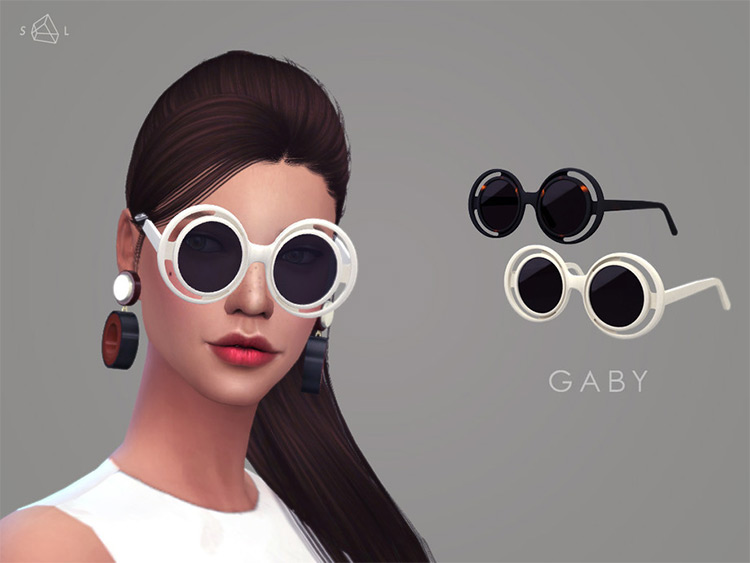 Gaby style rounded lenses sunglasses CC