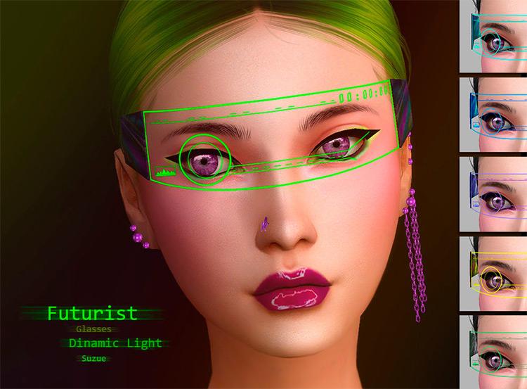 Apocalypse Sunglasses, futuristic styled in Sims4