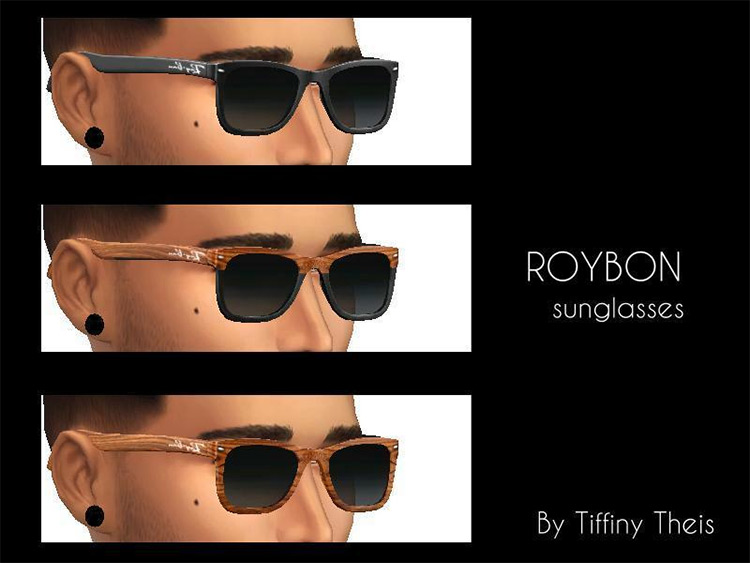 Roybon custom styles for Sims4 Sunglasses