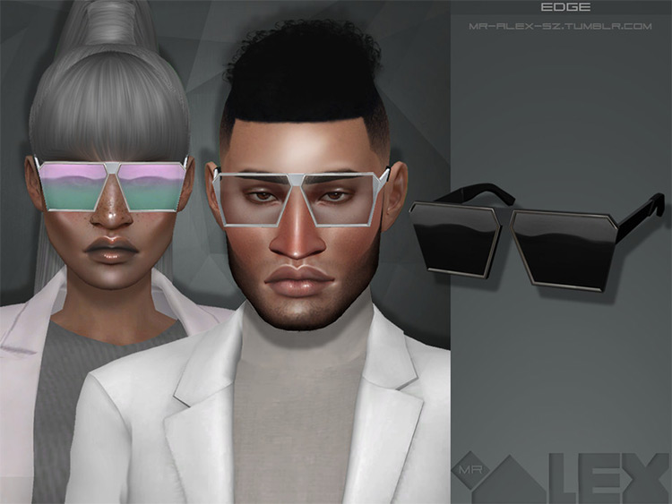 Edge blocky styled sunglasses CC
