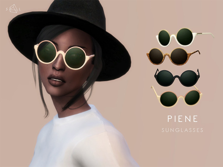 Piene Sunglasses rounded desgin