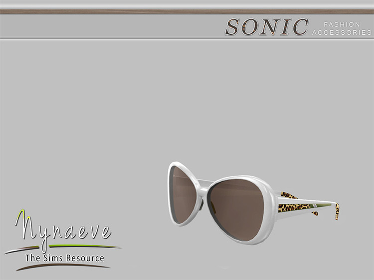 Sonic Leopard Print side sunglasses CC
