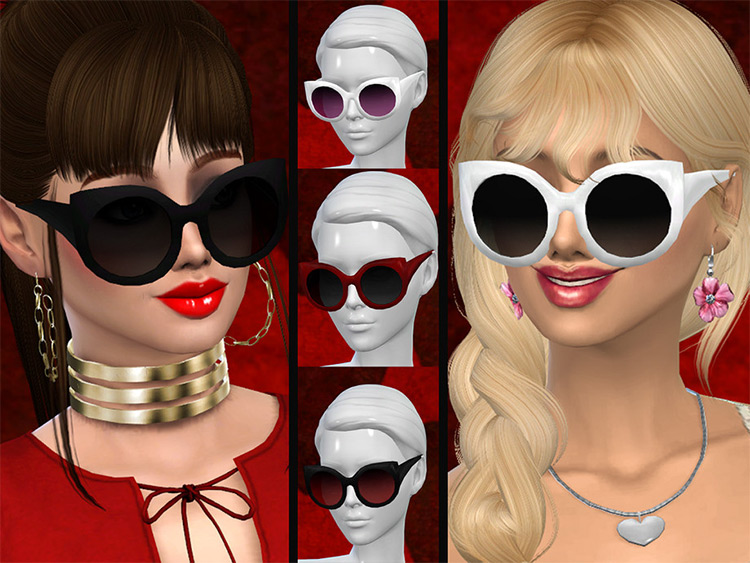 Kitty Myst girly fashion sunglasses for Sims4