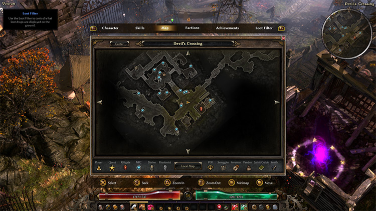 PlayStation Buttons Icons in Grim Dawn