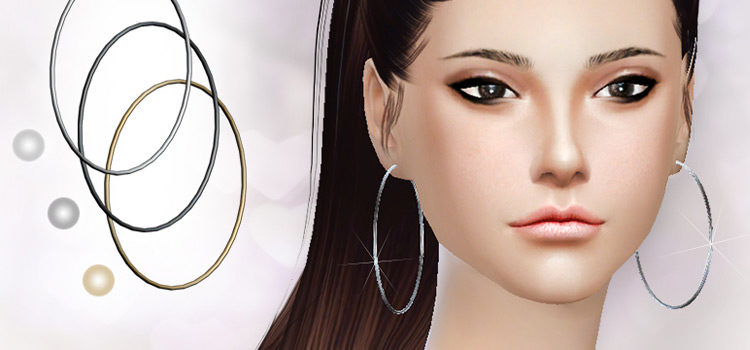 Best Sims 4 Hoop Earrings CC To Download