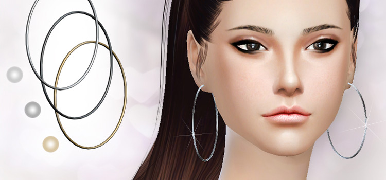 Sims4 S-Club Hoops Earrings