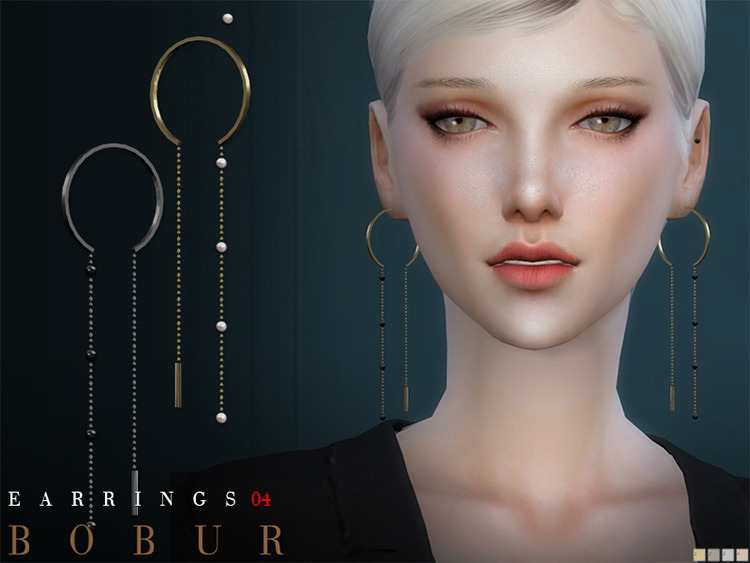 Bobur Earrings Sims4 CC