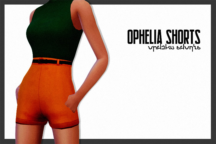 Ophelia Shorts - Sims 4 CC