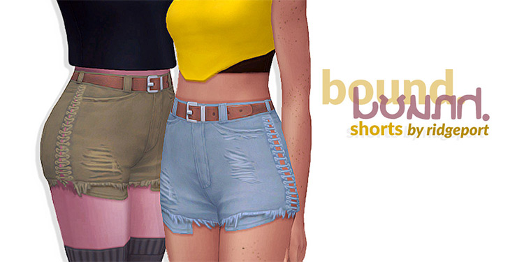 Bound Shorts For Girls - Sims 4 CC