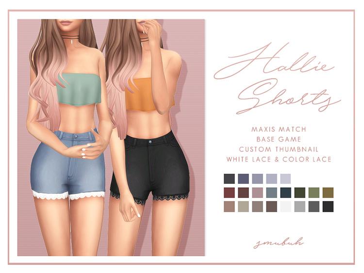 Hallie Shorts Fashion - Sims 4 CC
