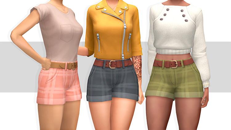 Plaid Shorts - Sims 4 CC