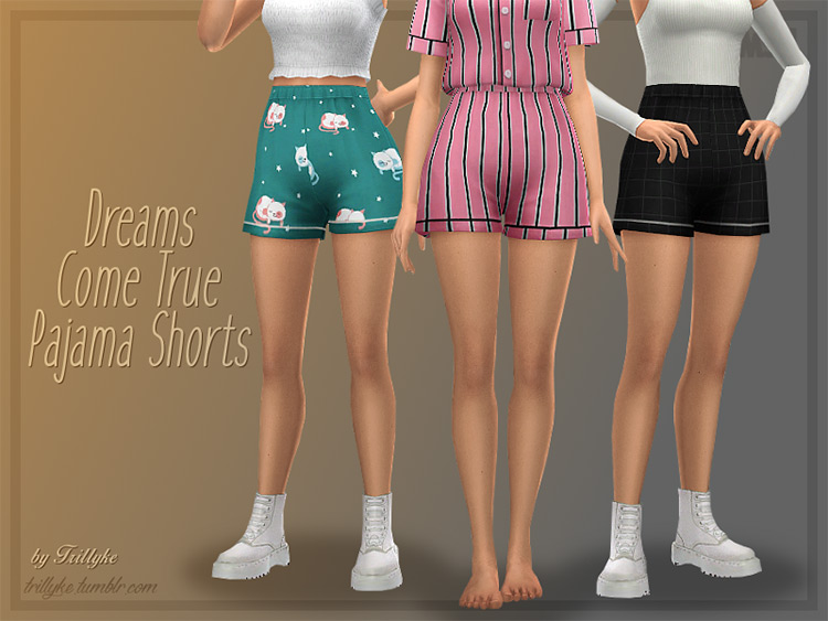 Dreams Come True Pajama Shorts - Sims 4 CC