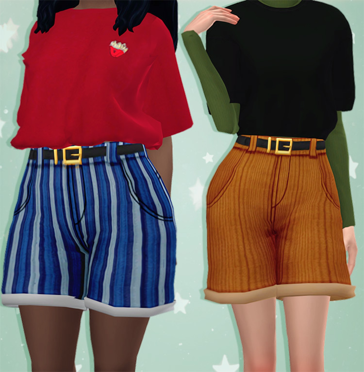 Olivia Shorts for Sims4 CC