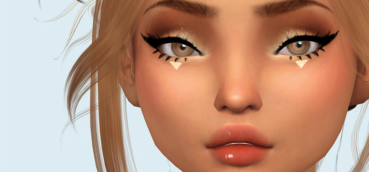 Saurins Moon Set - Makeup Sims4 Mod Preview